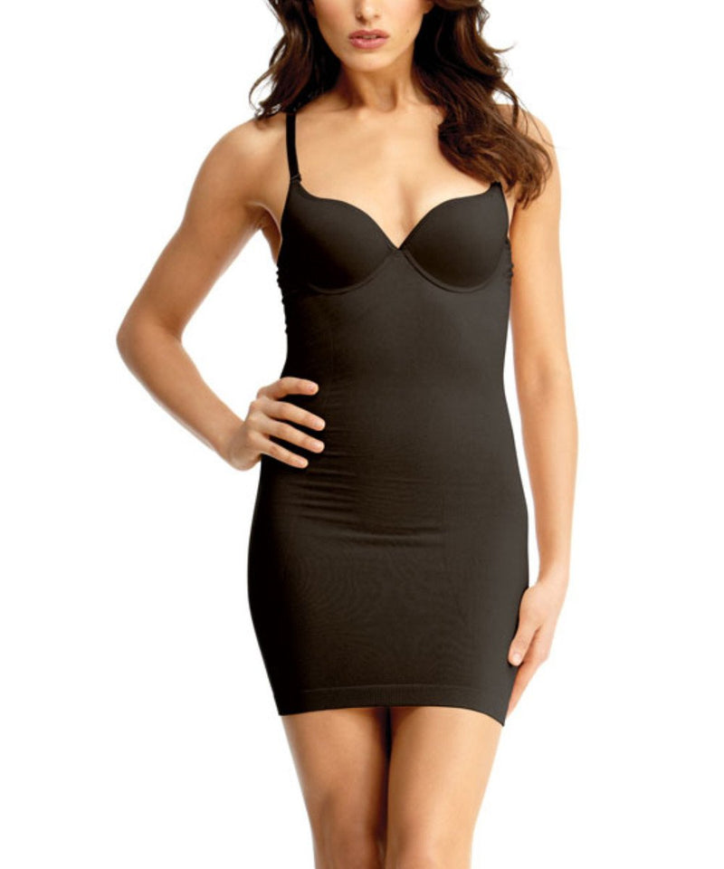 Shaping Slip w/Underwire Padded-Bra Waist Cinchers - MeMoi -Shapewear- Black-