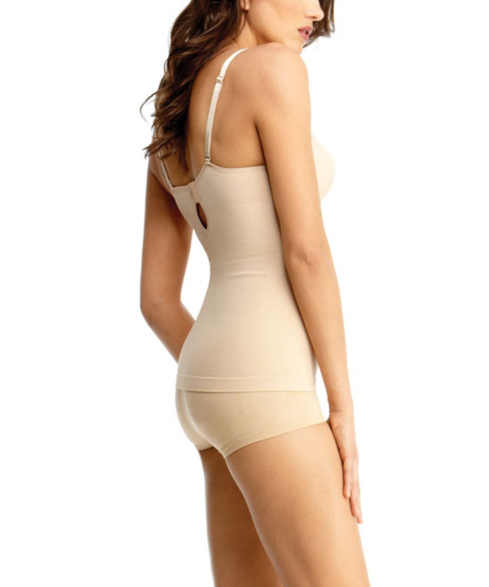Shaping Cami w/Underwire Padded-Bra Waist Cinchers - MeMoi -Shapewear- Nude-