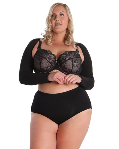 SlimMe Black Arm Sleeve Shaper | MeMoi Compression Shapewear | MSM-140 BLK