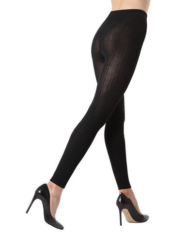 Footless Ribbed Sweater Tights