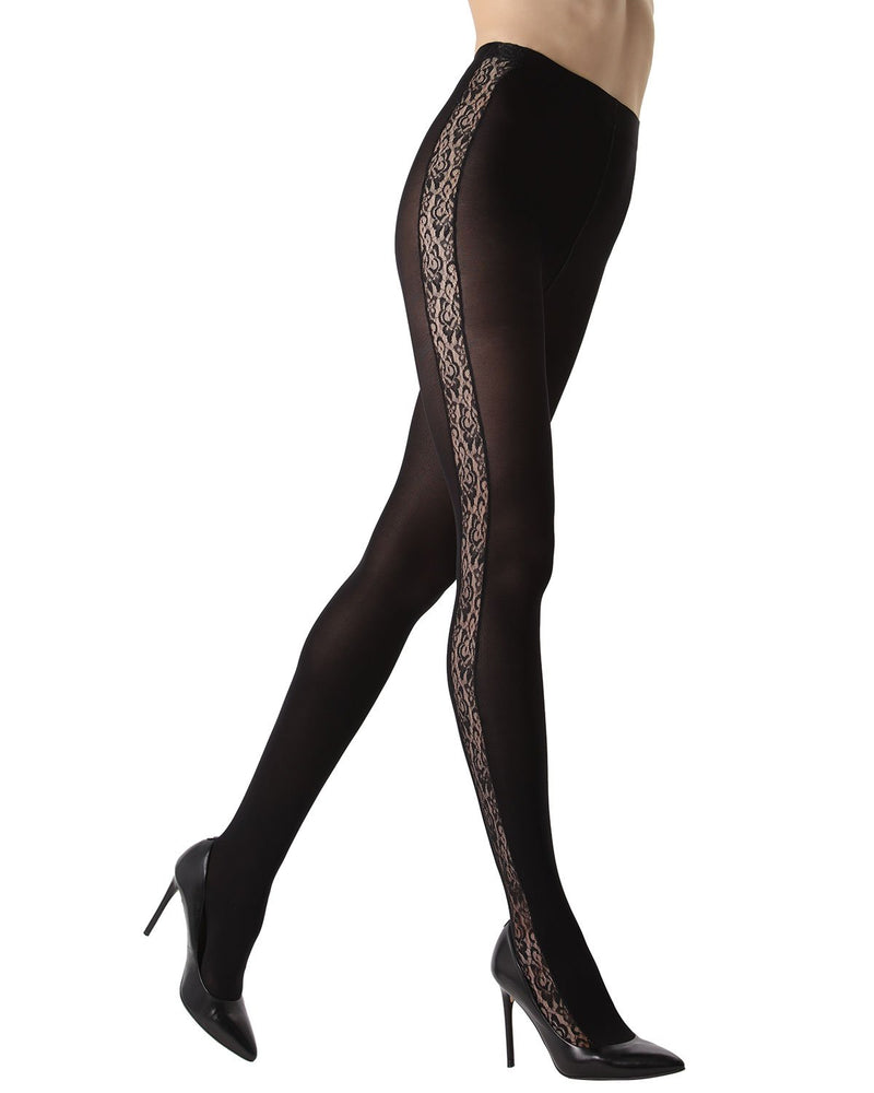 Lace Inset Opaque Tights