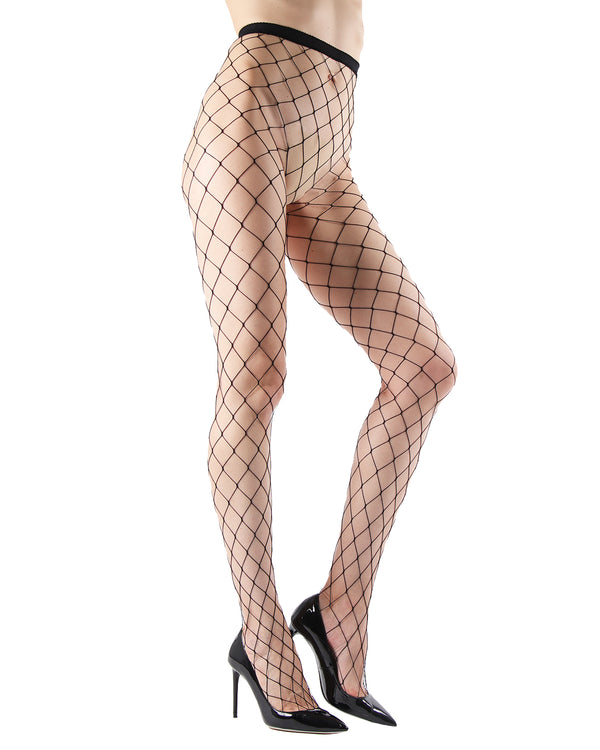 Extreme Fishnet Tights | Sexy Fishnet Pantyhose by MeMoi® | Black MTF04551 -2