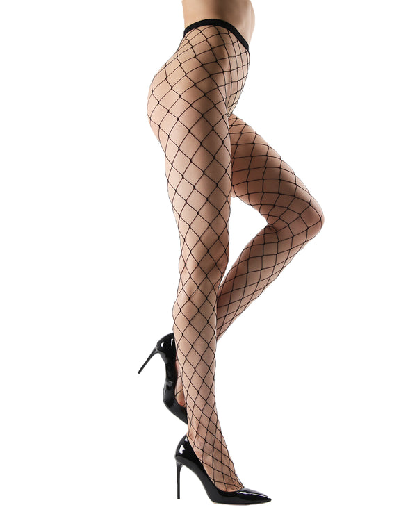 Extreme Fishnet Tights | Sexy Fishnet Pantyhose by MeMoi® | Black MTF04551