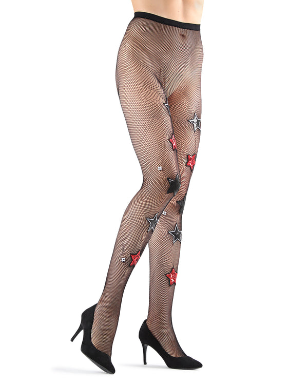 Rockstar Fishnet Tights | Fashion tights for Women | Womens Pantyhose |  MTF05356 - black - 1