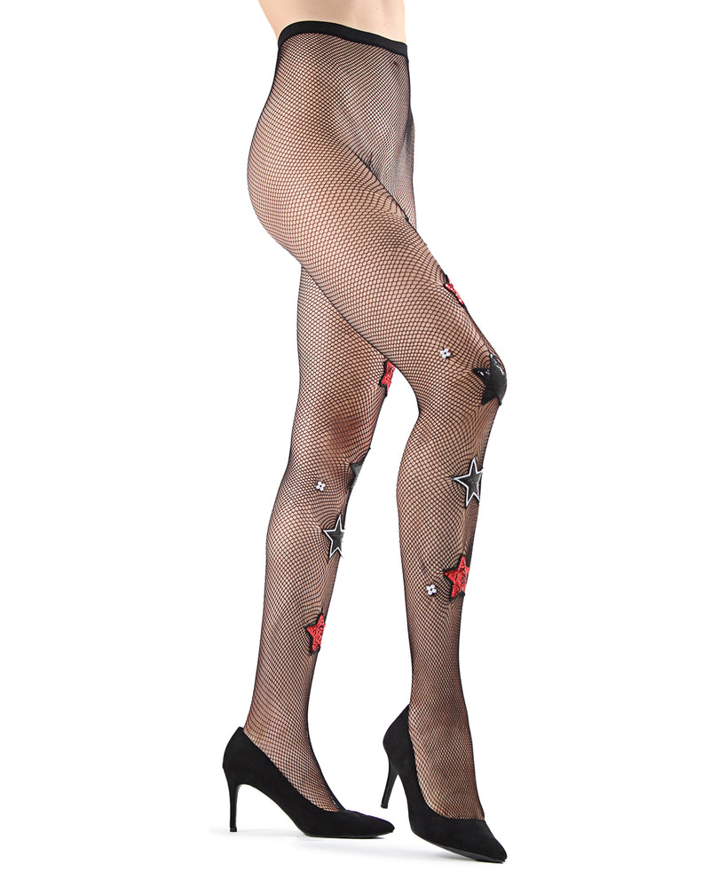 Rockstar Fishnet Tights | Fashion tights for Women | Womens Pantyhose |  MTF05356 - black - 2