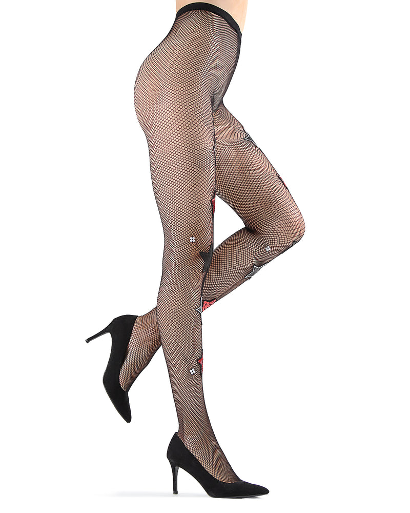 Rockstar Fishnet Tights | Fashion tights for Women | Womens Pantyhose |  MTF05356 - black - 3