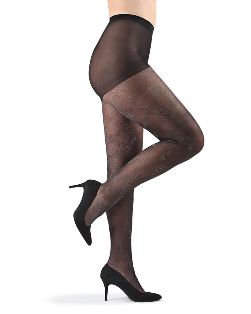 Statement Shimmer Sheer Tights| Tights by MeMoi | MTF05365 | Black 2
