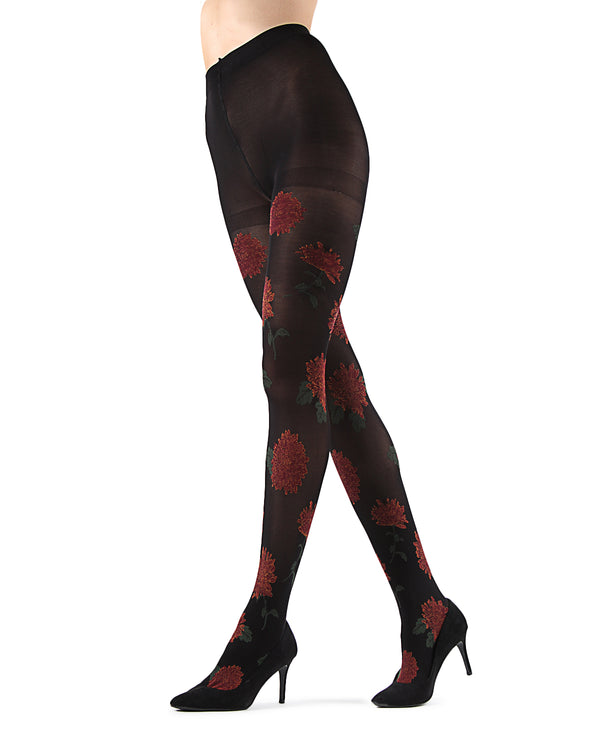 Wild Marigold Opaque Tights | Black Fashion Opaque tights for Women | Womens Pantyhose |  MTF05380 - Black - 1