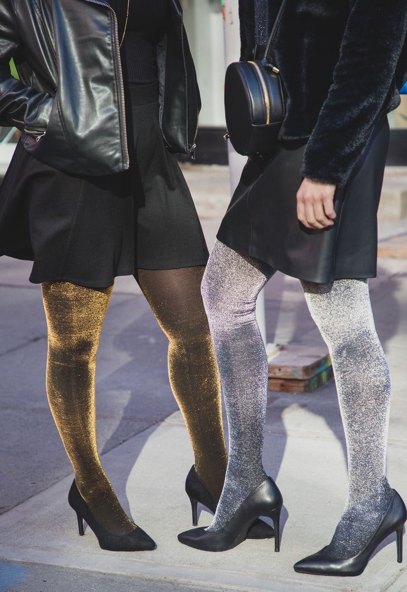 Liquid Metal Opaque Tights