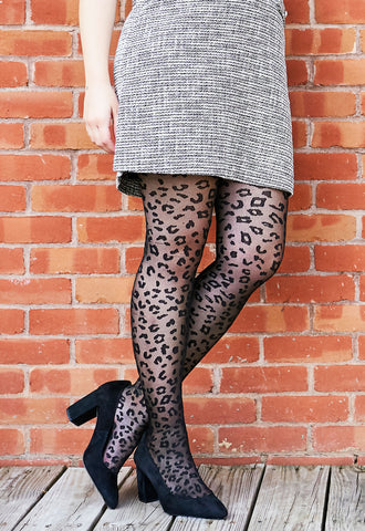 Leopard Print Sheer Tights | Womans Sheer Tights by MeMoi®