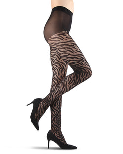 Zebra Stripe Sheer Tights
