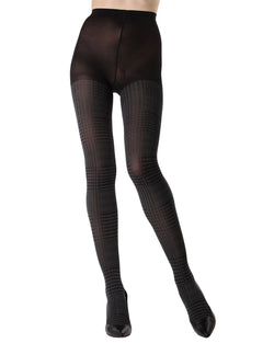 Glen Plaid Opaque Tights