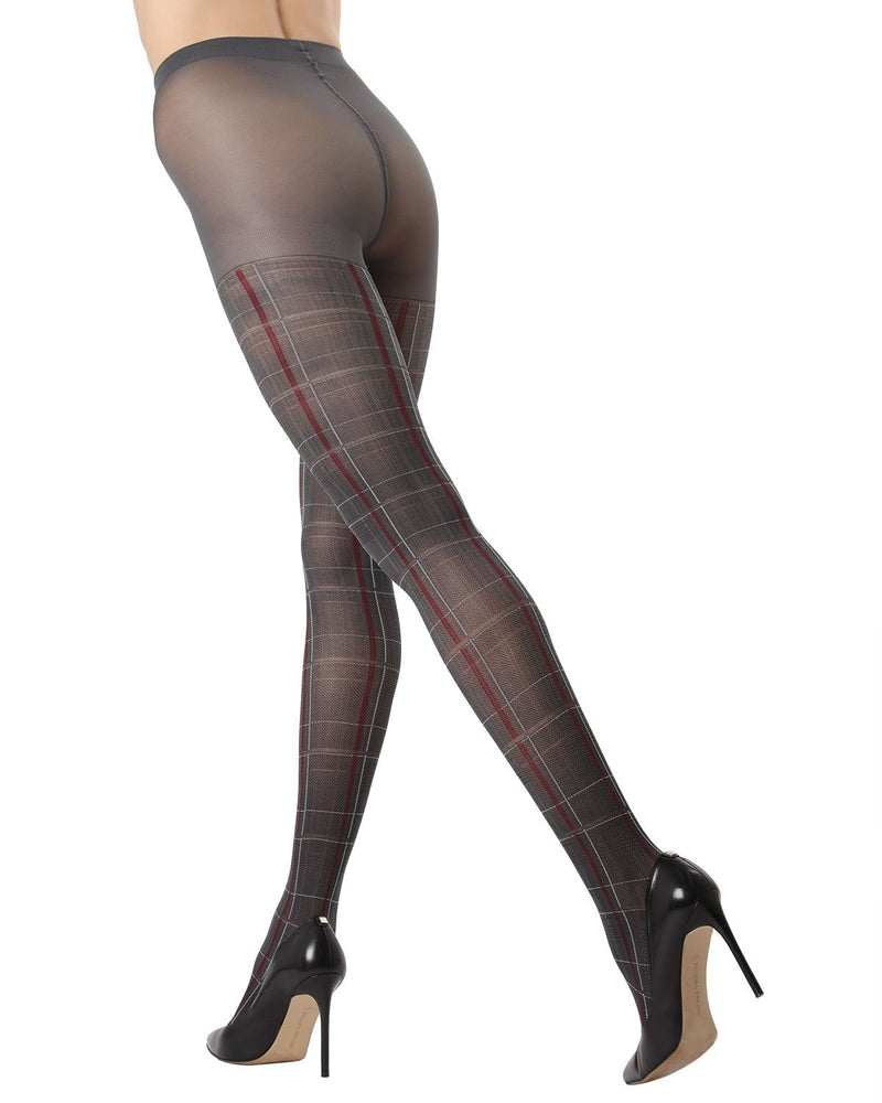 Pretty in Plaid Opaque Tights