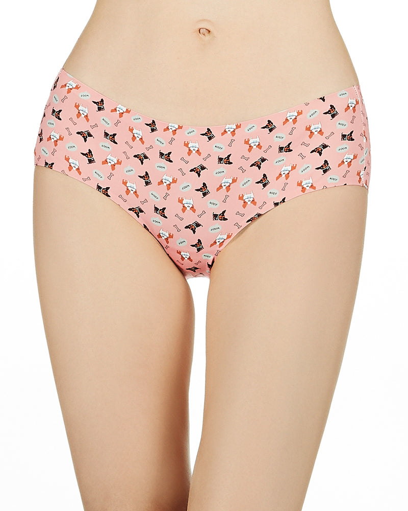 Dog & Woof Invisible Edge Hipster Panty | Women's Underwear by MeMoi | Mauve MUV06417
