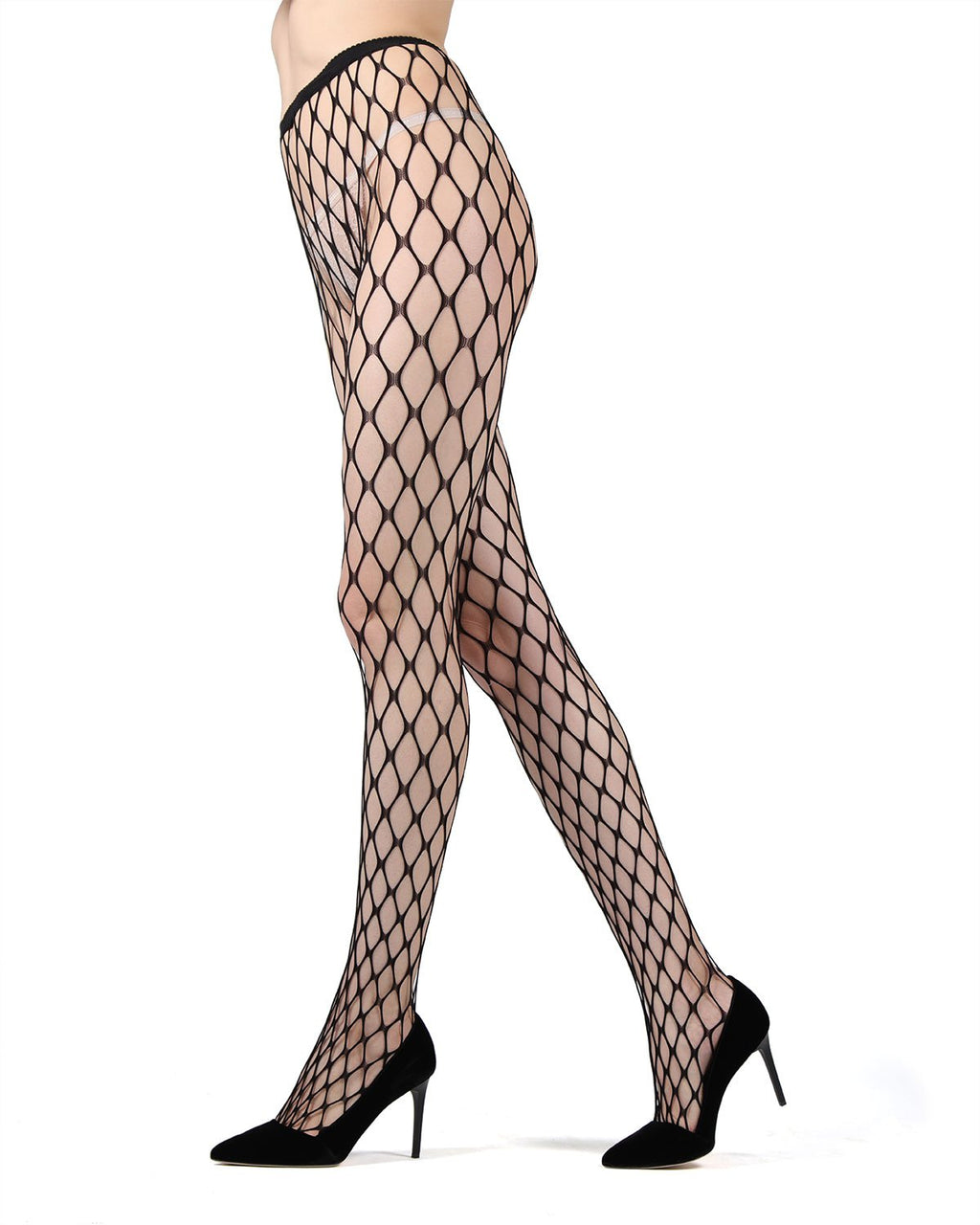 MeMoi | Black Maxi Net Fishnet Tights | Women's Tights