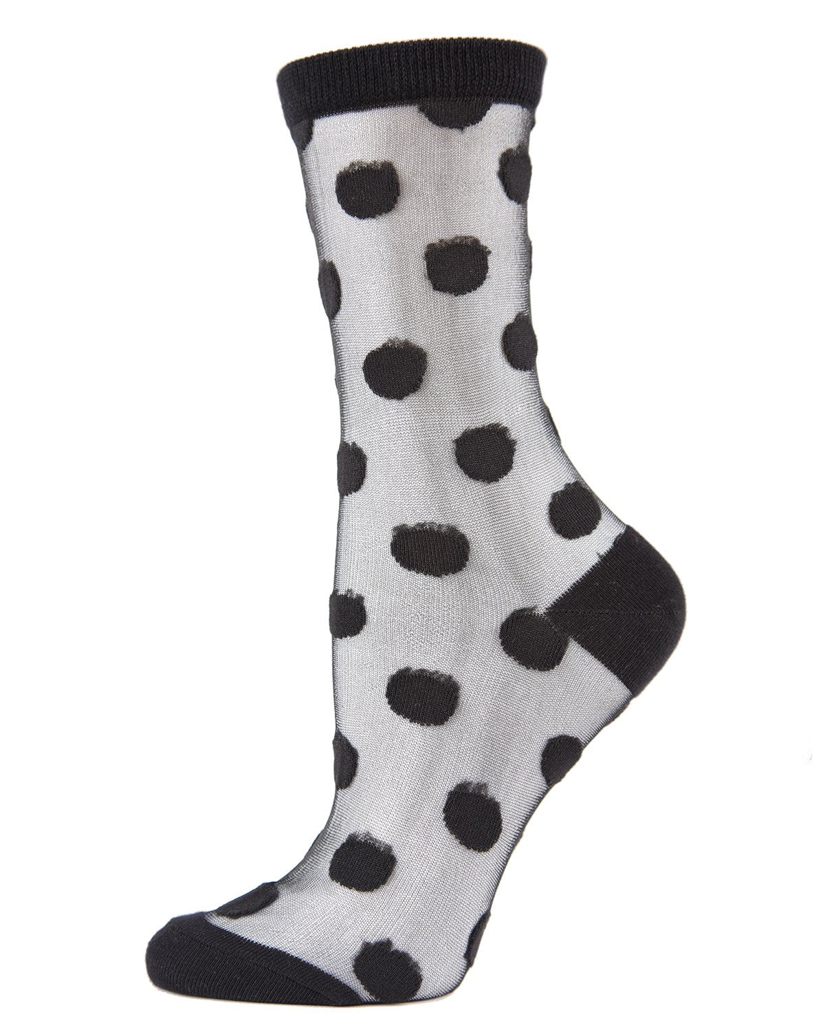See Through Polka Dot Socks