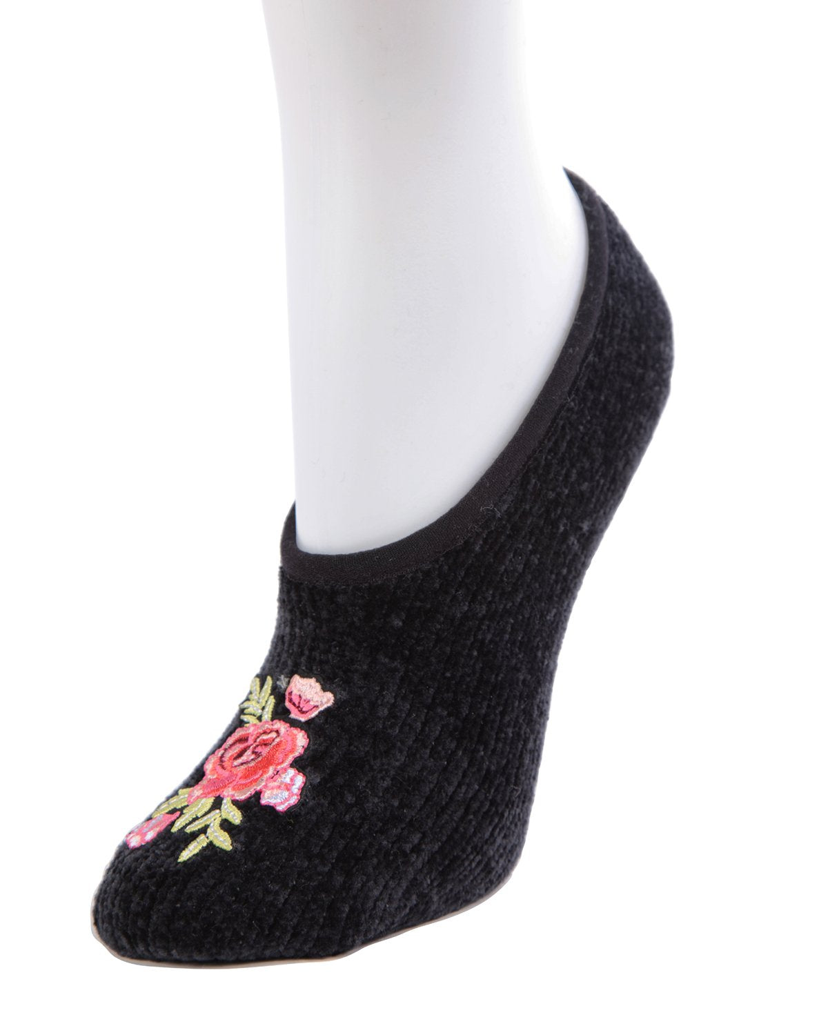 Floral Spring Embroidered Chenille Slipper