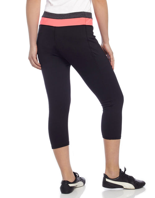 Heather Mix Athletic Yoga Capri Legging - MeMoi - 2
