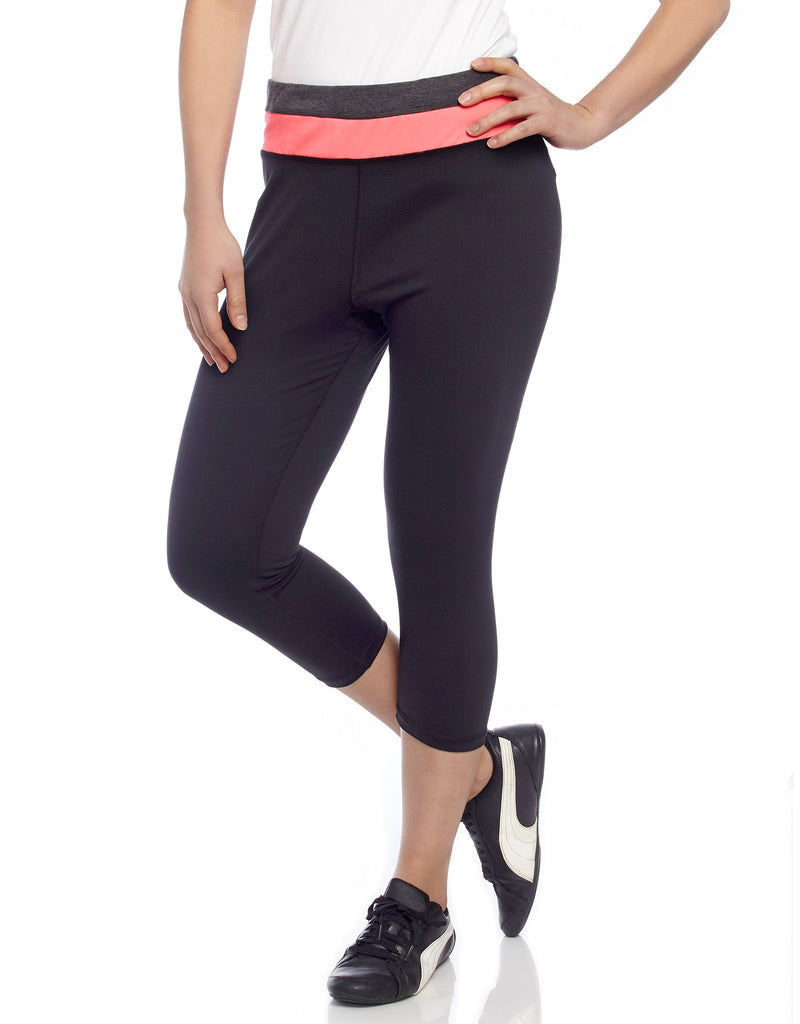 Heather Mix Athletic Yoga Capri Legging - MeMoi - 1