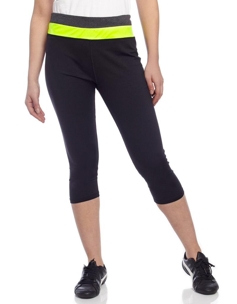 Heather Mix Athletic Yoga Capri Legging - MeMoi - 4