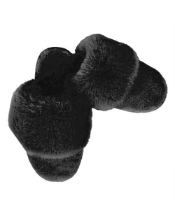 Caress Plush Slippers | Slippers By MeMoi®  | MZP05444  | Black