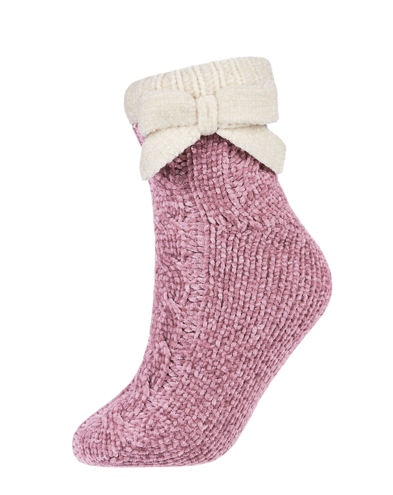 Cozy Ballerina Plush Lined Slipper Shortie Socks