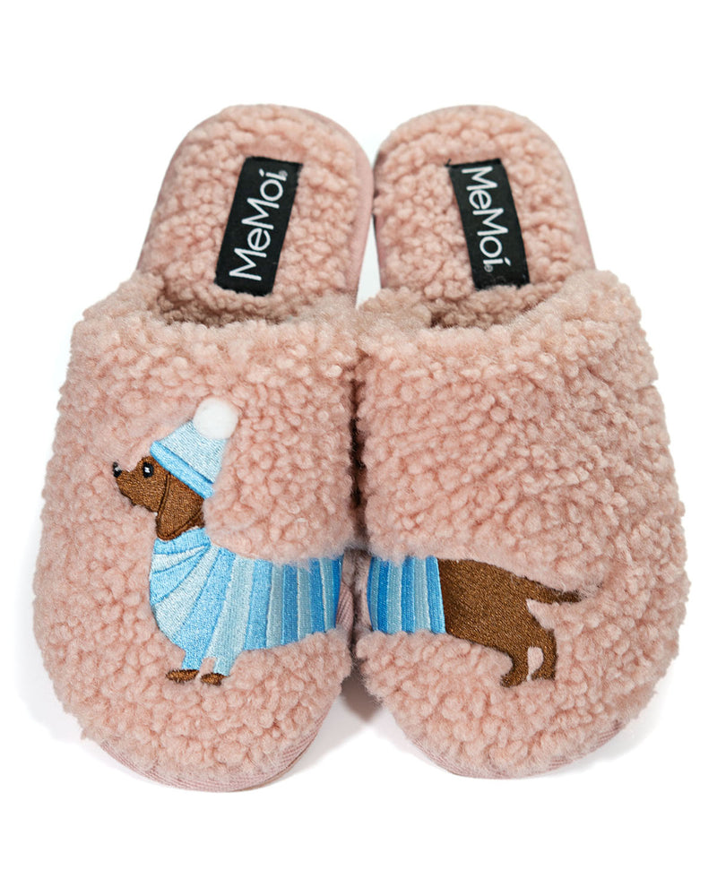 Plush Dachshund Slippers