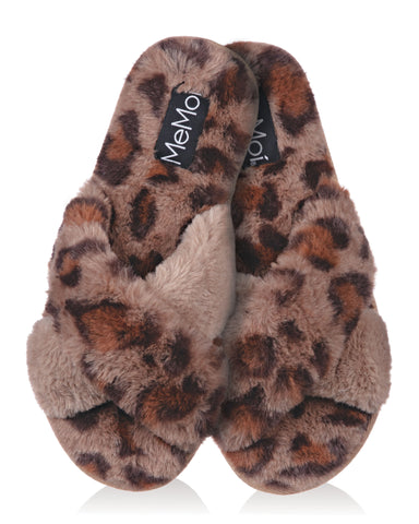 Cheetah Plush Slippers