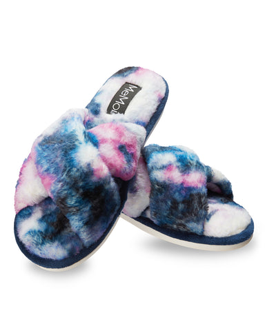 Stardust Tie Dye Plush Slippers
