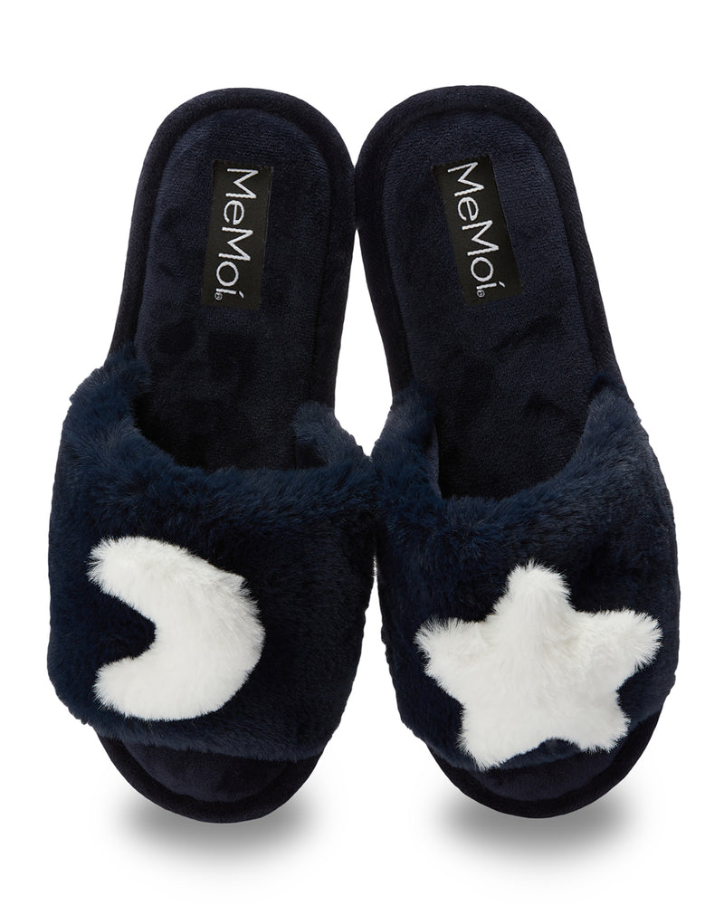 Star and Moon Plush Slippers