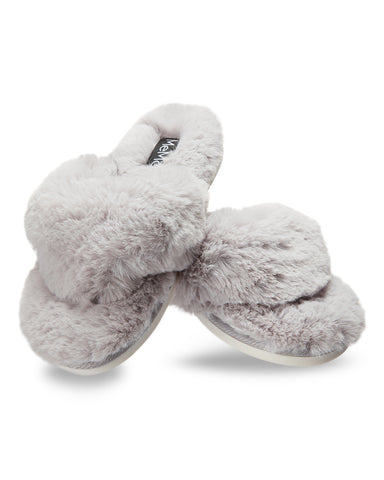 Fuzzy Plush Thong Slippers