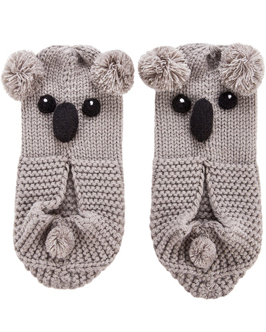 Koala Hand Knit Slippers