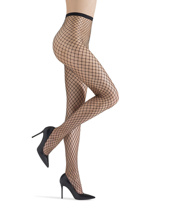 Ultra-wide maxi fishnet tights | Fishnet Stockings | MeMoi Women in tights | womens clothes | MM-633 -Black