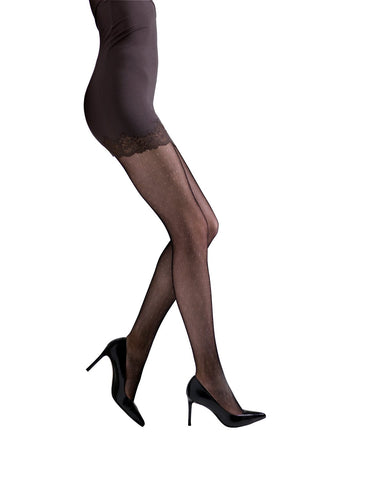 Women's Fashion Net tights by Natori | 92% Nylon, 8% Spandex | Black NAT 201