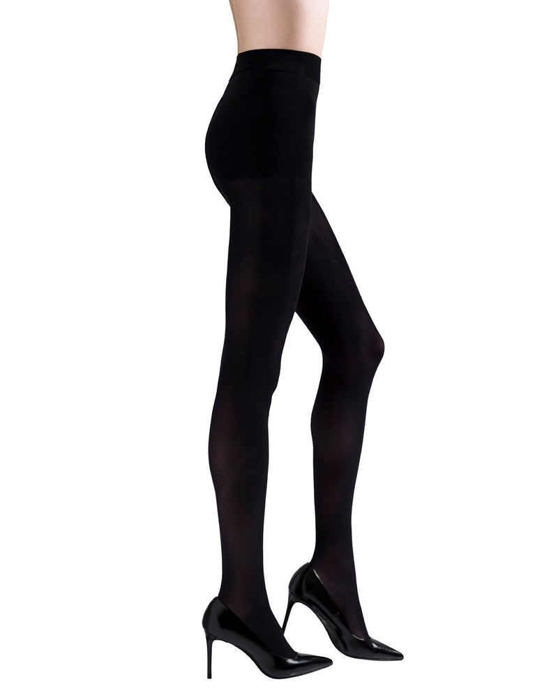 Stiletto Opaque Pantyhose | womens sheer tights by Natori | womens clothing | Nat-333 black