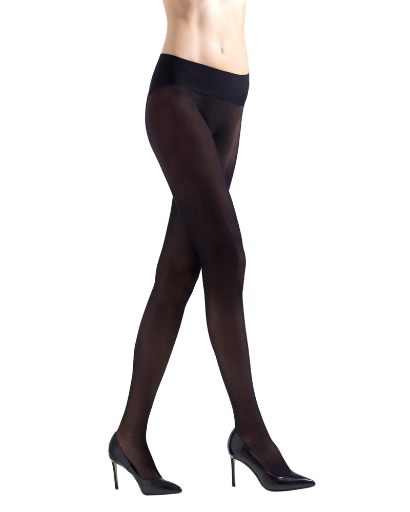 Seamless Panty Sheer Microfiber Tights| womens sheer tights by Natori | womens clothing | Nat-620 black