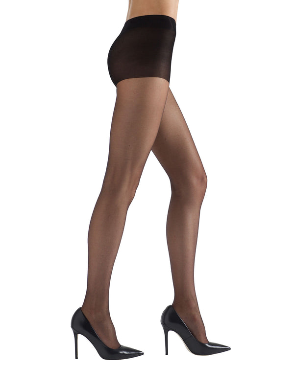 Ultra Bare Sheer Control Top Hosiery | womens sheer tights by Natori | womens clothing | Nat-614 Black