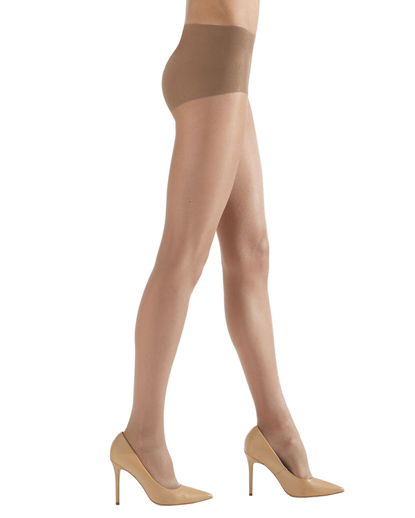 Shimmer Sheer Control Top Hosiery | womens sheer tights by Natori | womens clothing | Nat-616 Nude