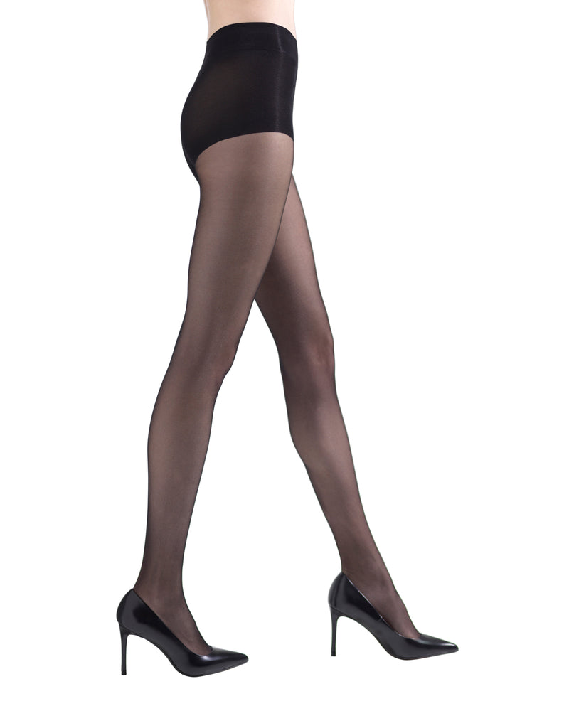 Shimmer Sheer Control Top Hosiery | womens sheer tights by Natori | womens clothing | Nat-616 black