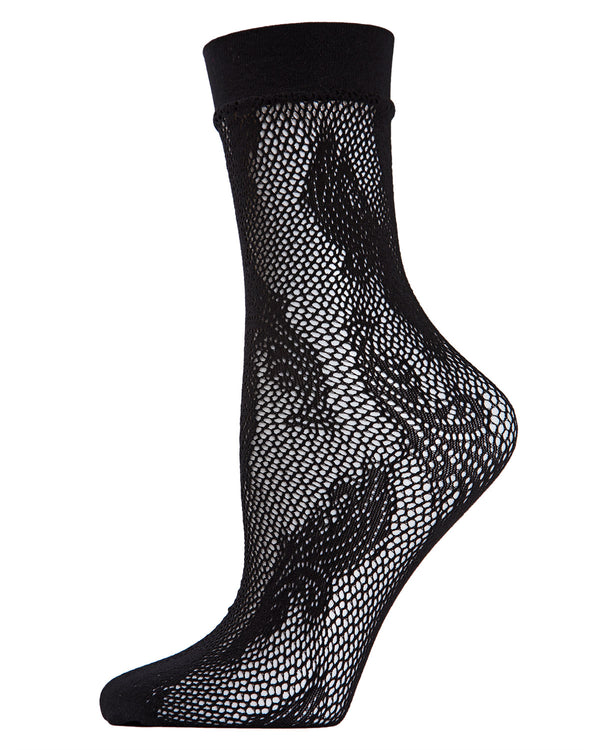 Plume Fishnet Crew Socks