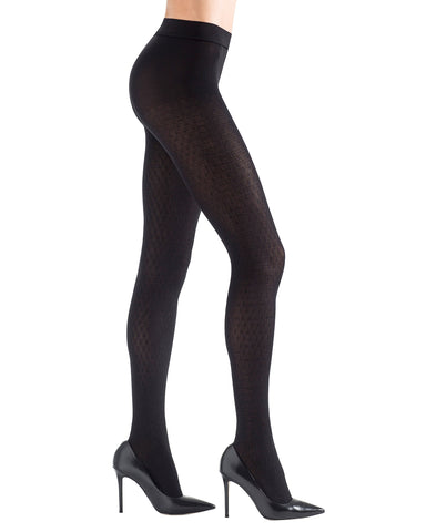 Natori Elodie Textured Opaque Tights | Womens clothing by Natori | fun womens tights | NTF6-141-00001