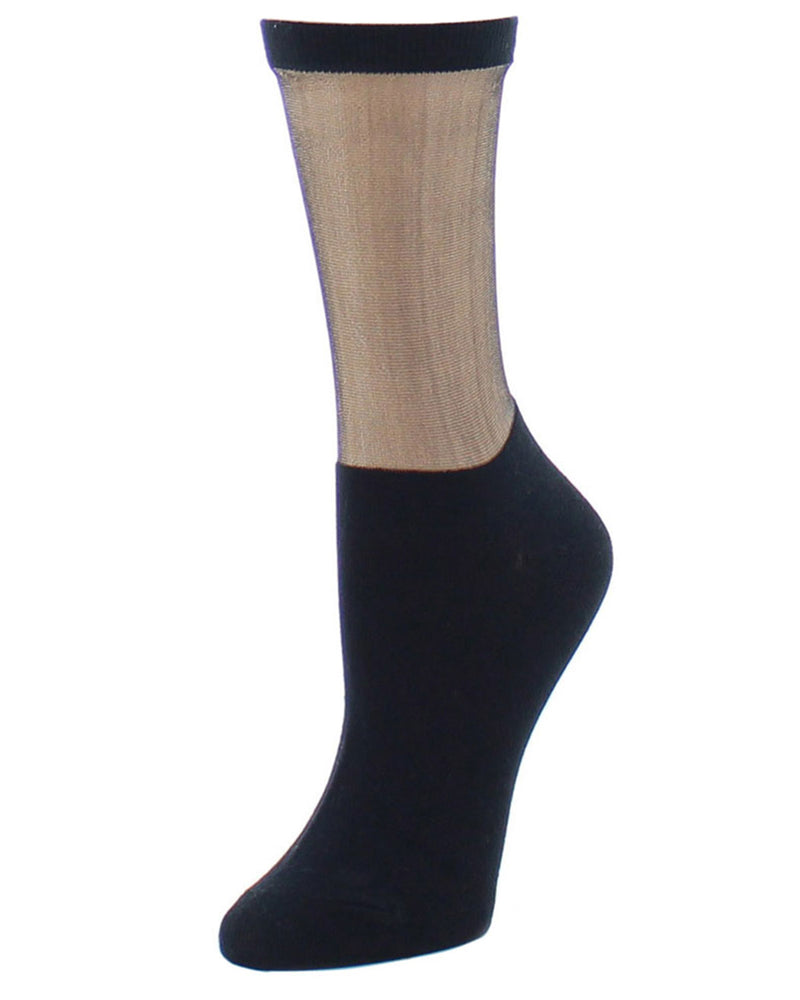 Natori Simple Sheer Women's Crew Socks