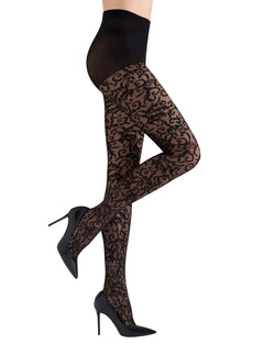 Natori Natori Venetian Scroll Sheer Tights