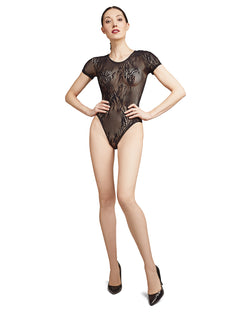 Natori Natori Feathers Short Sleeve Lace Bodysuit