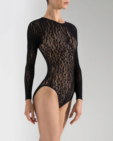 Animal Long Sleeve Lace Bodysuit | Sexy Women's Bodysuit |  NTF7-8184