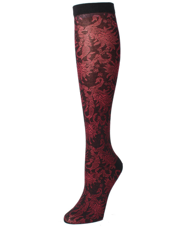 Raven Cotton Blend Knee High