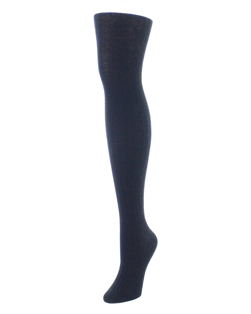 Cashmere Blend Rib Knit Sweater Tights | womens sheer tights by Natori | womens clothing | NTL-100 black