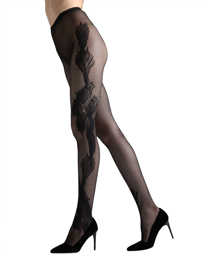 Scroll Fashion Net Tights