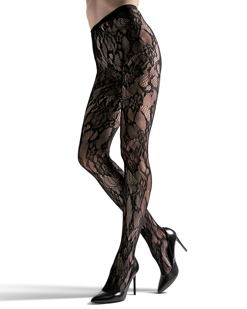 Lace Cut-Out Net Tights