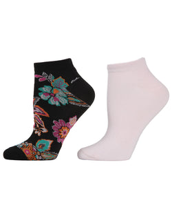 Fancy Florals 2-Pack Shorties Socks